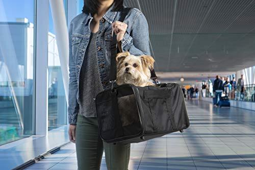 TrustyPup Travel Easy Explorer Airline Approved Pet Carrier, Medium, Black