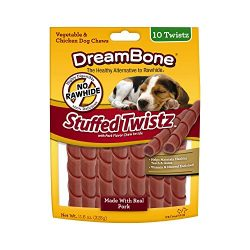 Dreambone Stuffed Twistz, Made With Real Pork, Rawhide Free, 10-Count – DBST-02363