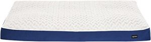 AmazonBasics shredded Foam Dog Bed with Removable Washable Cover, 28-Inch x 46-Inch