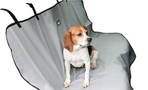 Animal Planet Water Resistant Bench Car Seat Cover for Pets, Grey