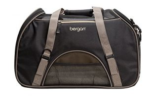 Bergan Comfort Carrier for Pets, Brown and Black, Large 19″L x 10″W x 13″H