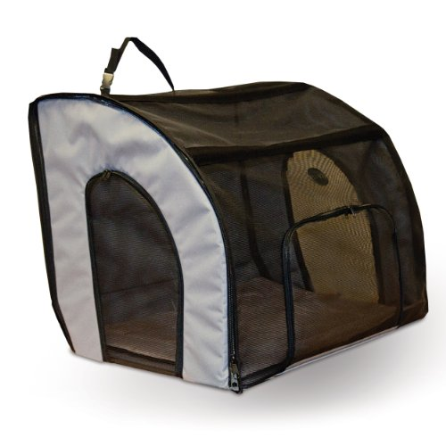 K&H Pet Products Travel Safety Pet Carrier Large Gray 29.5″ x 22″ x 25.5″