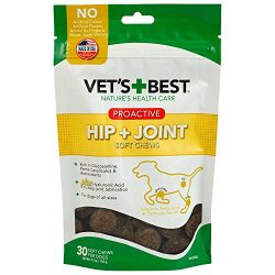 Vet's Best Proactive Hip & Joint Soft Chews Dog Supplements, 30 Day Supply
