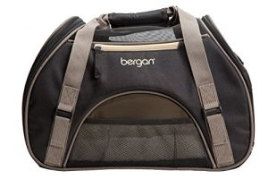 Bergan Comfort Carrier for Pets, Brown and Black, Small 16″L x 8″W x 11″H