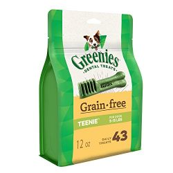Greenies Grain Free Teenie Dental Dog Treats, 12 Oz. Pack (43 Treats)