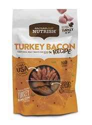 Rachael Ray Nutrish Turkey Bacon Grain Free Dog Treats, Hickory Smoked Turkey Bacon Recipe, 12 Oz.