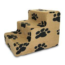 Best Pet Supplies ST215C-S Foam Pet Stairs/Steps, 3-Step, Beige
