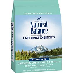 Natural Balance L.I.D. Limited Ingredient Diets Dry Dog Food, Grain Free, Chicken & Sweet Potato Formula, 13-Pound