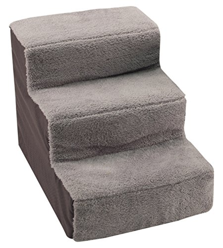 Dallas Manufacturing Co. 3 StepHome Décor Pet Steps, Gray