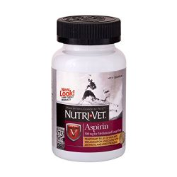 Nutri-Vet K-9 Aspirin 300mg Chewables for Medium & Large Dogs (75ct)