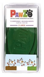 Pawz Green Water-Proof Dog Boot, X-Large , Up to 5-Inch