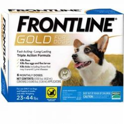 Frontline Gold for Dogs 2344 lbs Blue (6 Month)
