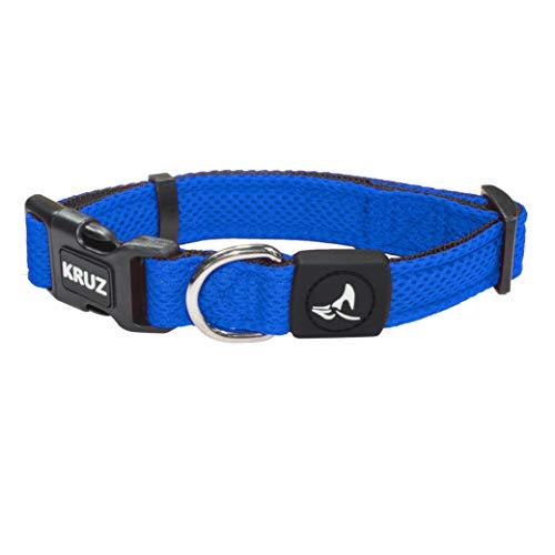 KRUZ PET KZA102-02S Breathable Mesh Dog Collar, Soft and Strong, Small