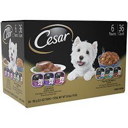 Cesar Canine Cuisine And Home Delights Wet Dog Food Club Variety Pack, (Pack Of 36) 3.5 Oz. Trays