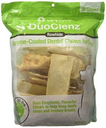 Vet One DuoClenz Enzyme Coated Dog Dental Chews for Large Dogs – Veterinarian Formulated – 30 Count