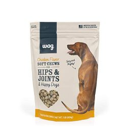 Amazon Brand – Wag Chicken Flavor Hip & Joint Training Treats for Dogs, 1 lb. Bag (16 oz)