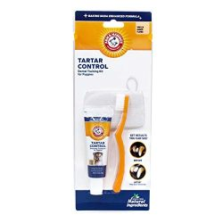 Arm & Hammer Tartar Control Dental Training Kit for Puppies   Toothbrush, Toothpaste, & Fingerbrush   Vanilla Ginger