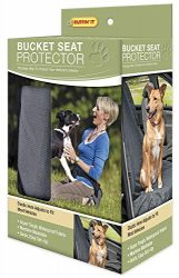 RUFFIN' IT Car Bucket Seat Protector for Pets, Grey