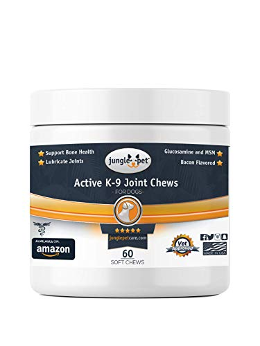 Jungle Pet Active K-9 Joint Chews – with {Chondroitin, Glucosamine, MSM} – Powerful & Effective