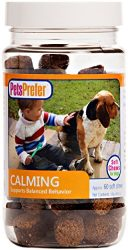 PetsPrefer Dog Calming Soft Chews – Supports Behavior & Relaxation – May Reduce Hyperactivity – 60 Chews