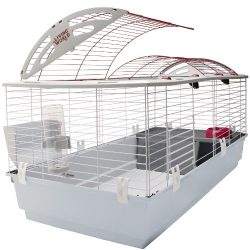 Living World Guinea Pig, Rabbit, Ferret Cage – X-Large Deluxe Hutch