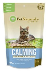 Pet Naturals of Vermont – Calming for Cats, Behavioral Support Supplement, 30 Bite Size Chews