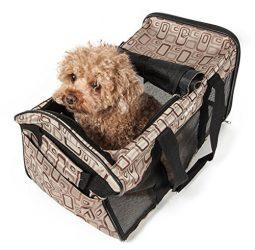 PET LIFE Airline Approved Ultra-Comfort Designer Collapsible Travel Fashion Pet Dog Carrier, Medium, Plaid Design