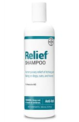 Bayer Relief Shampoo, temporary relief of itching and flaking, moisturizer for dry skin and coat, for dogs, cats and horses, 12 oz