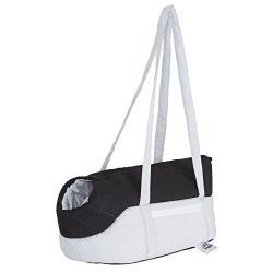 PETMAKER Cozy Travel Pet Carrier, 16.5″ x 8″ x 9″, Gray/Black