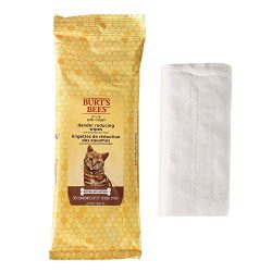 Burt's Bees For Cats Natural Dander Reducing Wipes | Kitten and Cat Wipes For Grooming, 50 Count