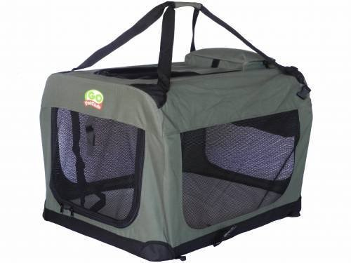 Go Pet Club Dog Pet Soft Crate, 48-Inch, Sage