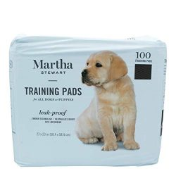 Martha Stewart Pets Training Pads for All Dogs & Puppies | 23″ x 23″ Puppy Pads, 100Count