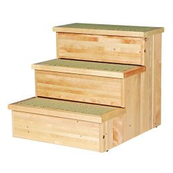 Trixie Pet Products Wooden Pet Stairs, Natural