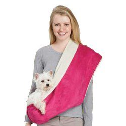 East Side Collection East Side Collection Reversible Sherpa Sling Carrier, Pink