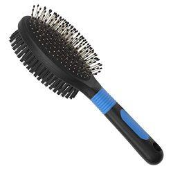 BV Pet Brush, Dog Brush & Cat Brush, Pet Grooming Comb, 2 Sided Bristle & Pin for Long Hair & Short Hair Dog, Removing Shedding Hair