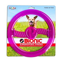 BIONIC Toss N' Tug Durable Tough Medium Fetch Toy for Dogs