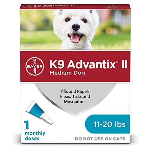 Flea and tick Prevention for Dogs, Dog flea and tick Treatment, 1 dose for Dogs 11-20 lbs, K9 Advantix II