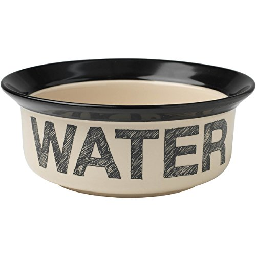 Petrageous Designs Pooch Basics 8″ Pet Bowl, Water