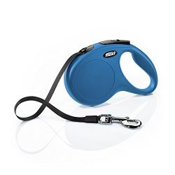 Flexi New Classic Retractable Dog Leash (Tape), 16 ft, Medium, Blue