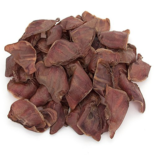 GigaBite Whole Pig Ears for Dogs (50 Pack) – USDA & FDA Certified All Natural Pork Ear Dog Treat – By Best Pet Supplies