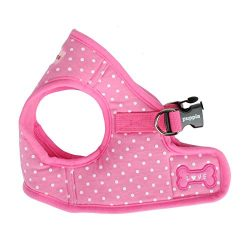 Puppia Dotty Harness B, Large, Pink