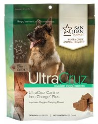 UltraCruz Canine Iron Charge Plus Supplement for Dogs, 120 Tasty Chews