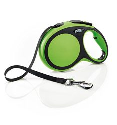 Flexi New Comfort Retractable Dog Leash (Tape), 26 ft, Large, Green