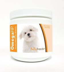 Healthy Breeds Dog Omega Oil Moist Soft Chews for Maltese – Over 100 Breeds – EPA & DHA Fatty Acids – Small & Medium Breed Formula – 60 Count