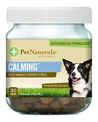 Pet Naturals of Vermont – Calming, Behavior Support for Medium & Large Dogs-30 Soft Chews