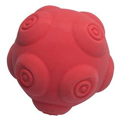 Petper CW-0117 Dog Squeaky Ball Toy Soft Latex, Puppy Interactive Toy for Playing & Training, Red