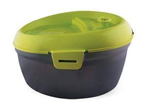 Dog H2O Pet Water Fountain 200 fl. oz./6.3 Quart with Dental Care Tablets, Sharp Lime Green/Translucent Black