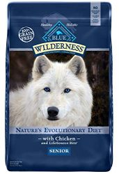Blue Buffalo Wilderness High Protein Grain Free, Natural Senior Dry Dog Food, Chicken 24-lb