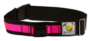 Squishy Face Studio Hands Free Dog Leash Belt, Small/Medium, Neon Pink