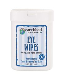Earthbath Eye Wipes Hypo-Allergenic Fragrance Free 25 ct